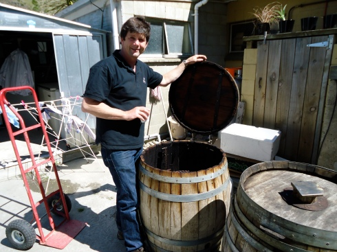 Quentin with his barrel ovens