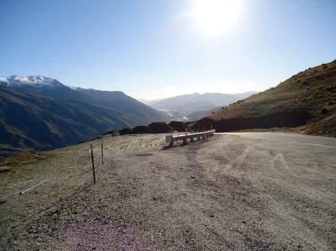 View coming down the mountains into Arrowtown
